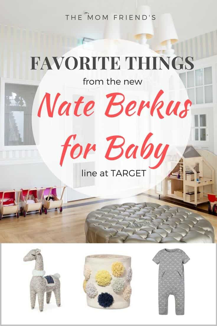 Have you seen the newest baby line at Target? Nate Berkus brings style and gender neutral design for the nursery, with adorable nursery decor, crib sheets, baby storage, and baby clothing for boys and girls. Check out The Mom Friend's favorites! | The Mom Friend | themomfriend.com