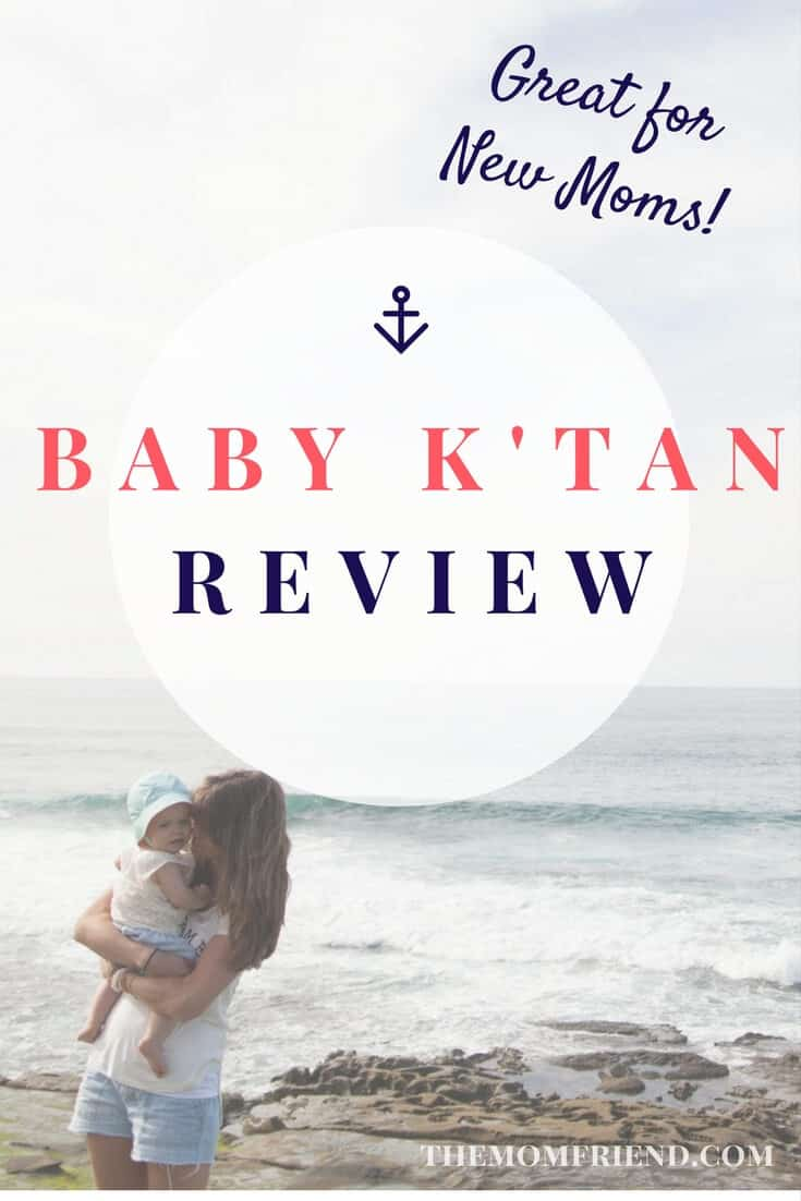 Babywearing doesn't have to be complicated. Find out why the Baby K'Tan is a great baby carrier for holding your newborn baby or keeping your infant close in this unbiased review. | The Mom Friend | themomfriend.com