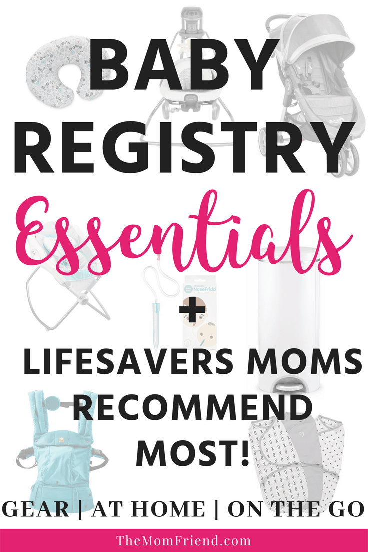 Click here to see the baby registry essentials that most voted as must haves! Plus find tips about some of the best lifesavers that will make life as a new mom with a newborn easier! #newmom #parenting #babyregistry #babyshower #newbaby #babygear