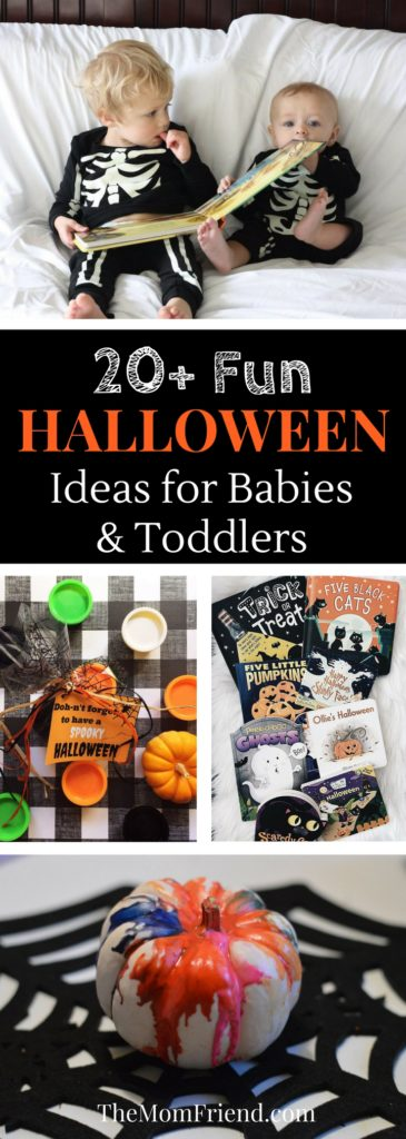 Lots of great ideas for a fun Halloween & fall season with babies and toddlers. Roundup of fun Halloween crafts, activities & recipes, favorite Halloween books for toddlers, and more! | The Mom Friend