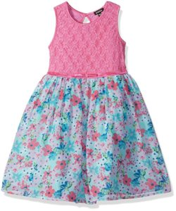 zunie pink floral fancy dress