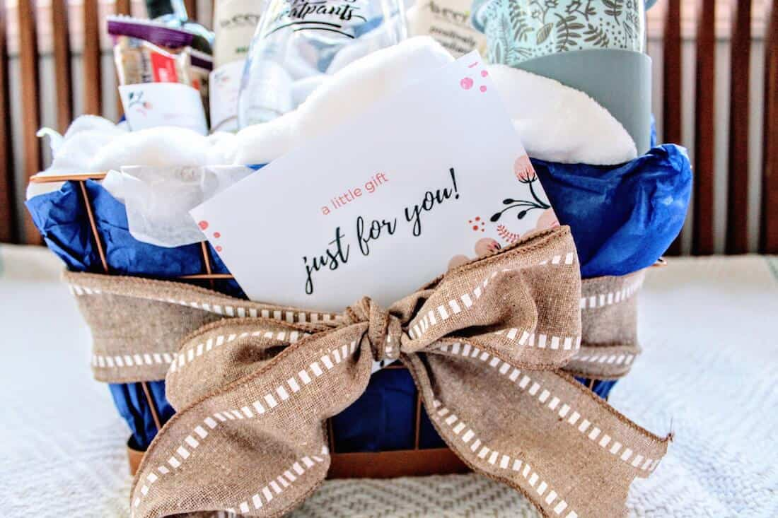 "How to Make a New Mom ""Treat Yourself"" Gift Basket"