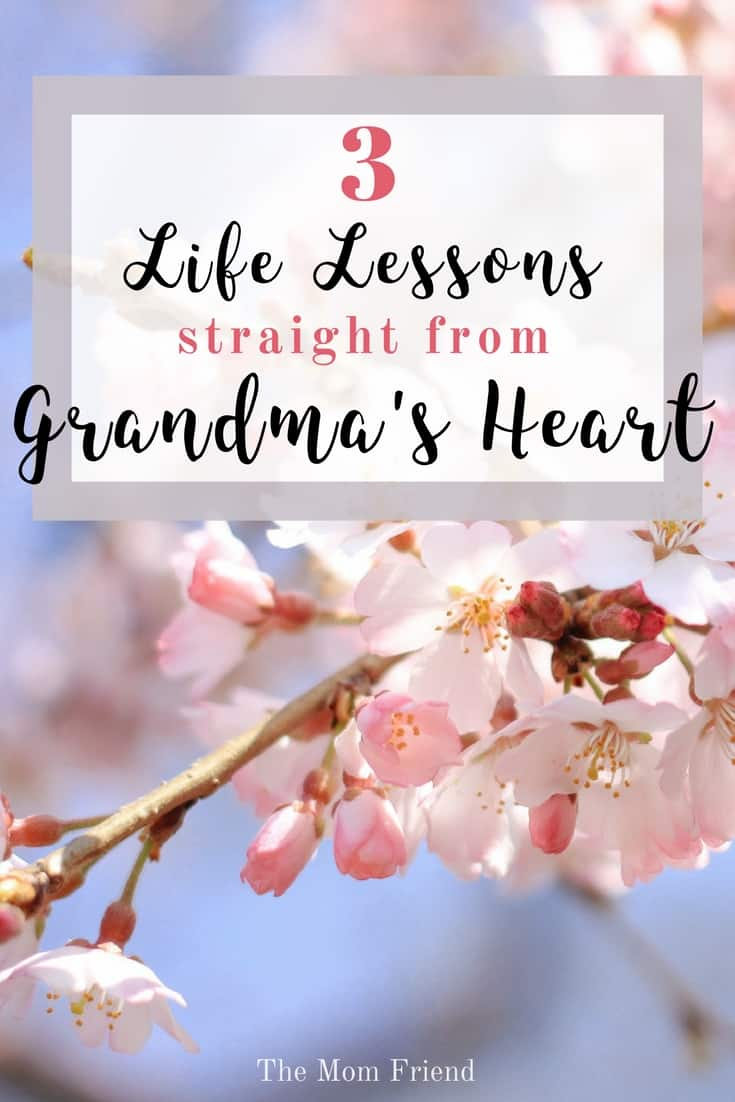 3 Life Lessons Straight from Grandma's Heart | #grandma #grandmagifts #grandparents #family #newmom #ad