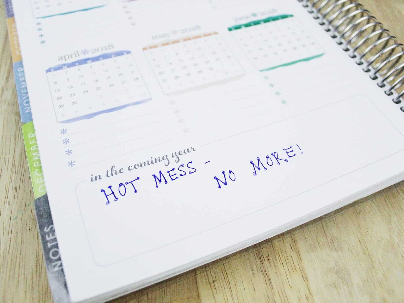 Hot mess funny planner page The Mom Friend #ad