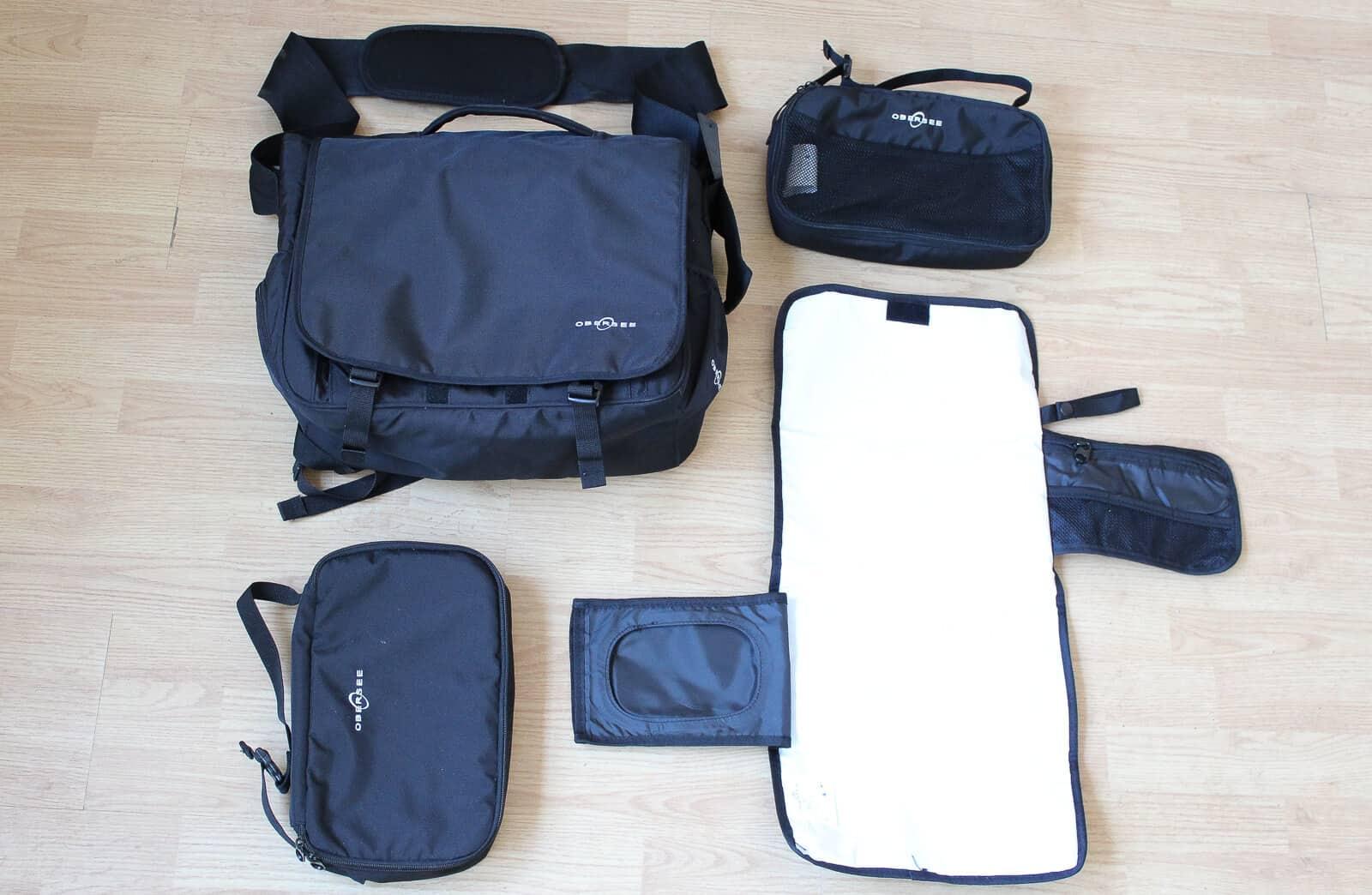 obersee madrid convertible large backpack diaper bag