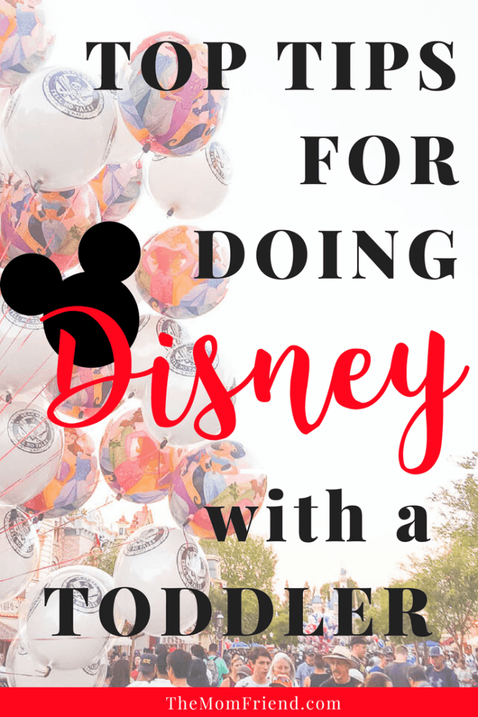 Headed to Disneyland or Disney World with an infant or toddler? Check out these helpful tips for doing Disney with a toddler, including packing ideas, strollers, and ideas for the day! #disney #disneywithtoddlers #disneytips #disneyworld #travelwithkids #travelwithbaby