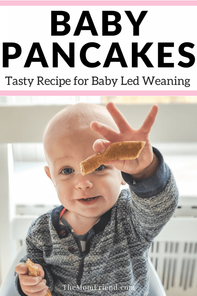 Delicious baby pancakes recipe for baby led weaning, including options with eggs, these baby led weaning first foods are perfect for babies 6 months and up!