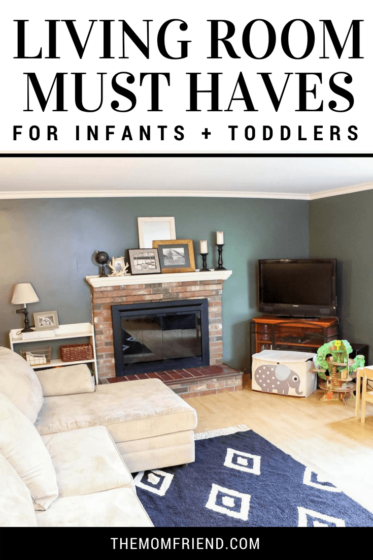 Check out these tips for creating a family friendly living room with lots of baby proofing ideas and hacks for a functional living space for infants and toddlers.
