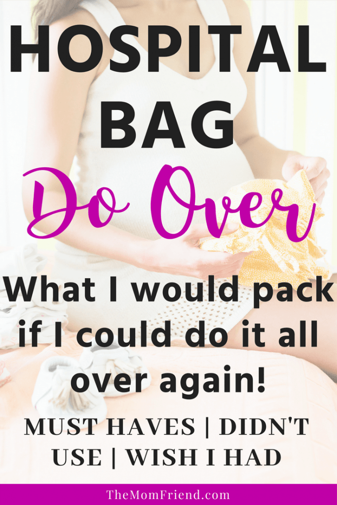 What to pack in a hospital bag for mom, including items not used and that I wish I had! Super helpful for new moms to be as they prepare their hospital bag #hospitalbag #pregnancy #pregnant #hospitalbagchecklist #babyregistry #babyregistryessentials #newmom