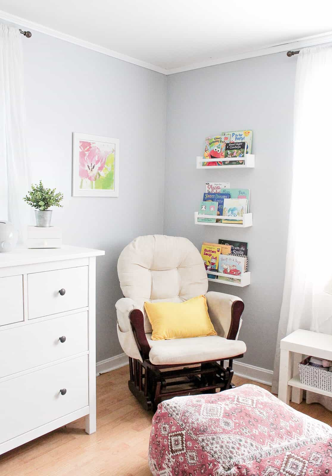 Modern Girl Nursery Classically Sweet Shared Toddler Baby Room