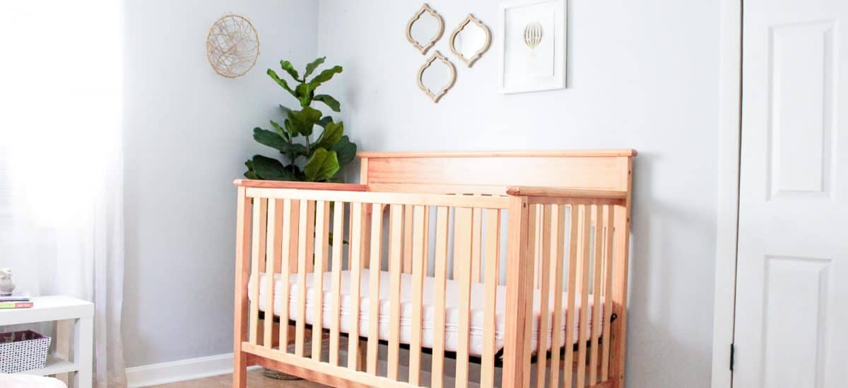 Modern Girl Nursery: Classically Sweet Shared Toddler & Baby Room