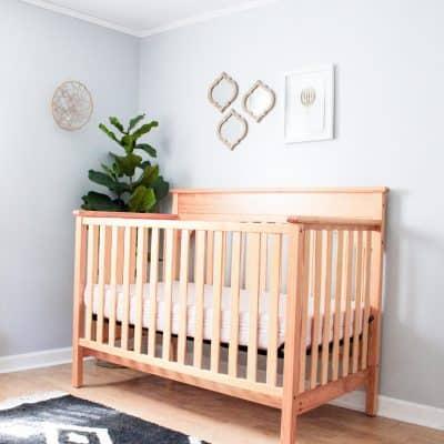 Modern Girl Nursery: Classically Sweet Shared Toddler & Baby Room