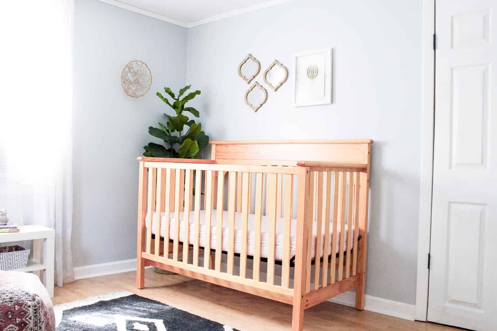 A Sweet And Minimal Modern + Classic Baby Girl Nursery (shared Infant U0026  Toddler Room