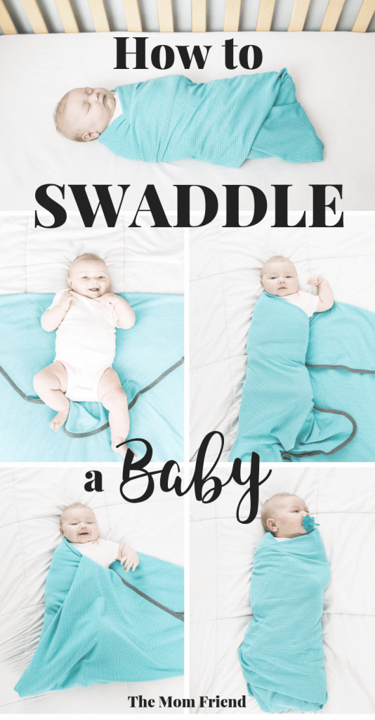 How to Swaddle a Baby: A tutorial using the Diamond Method taught by a materinity nurse. Perfect for swaddling a newborn to help them sleep! #newborn #newmom #newbornsleep #babysleeptips