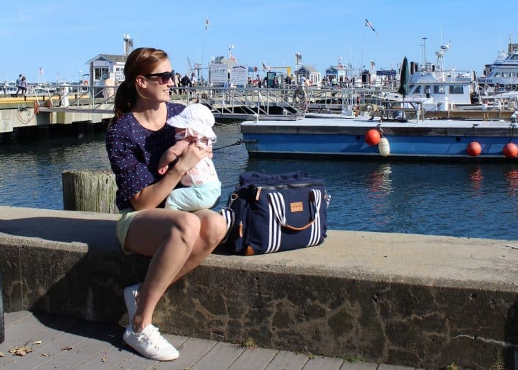 Baby K'tan Weekender in provincetowndiaper bag in